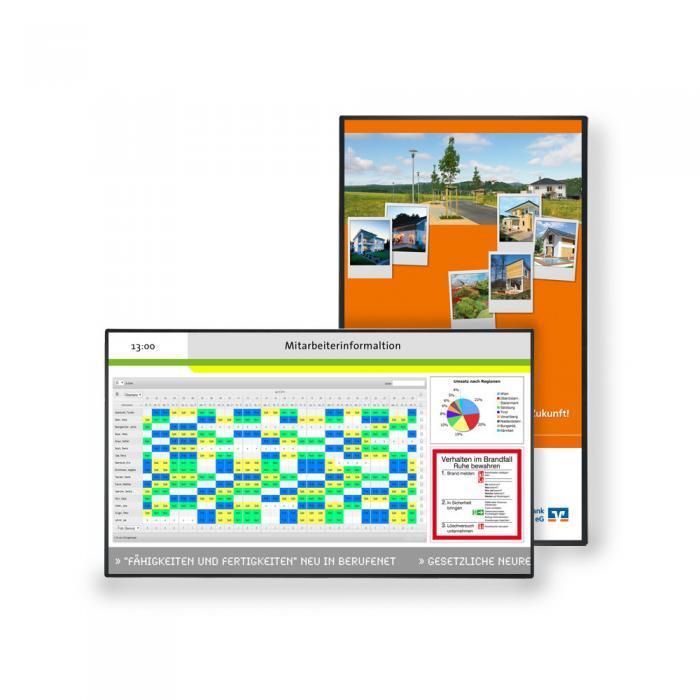 Mitarbeiterinformationssystem Display light