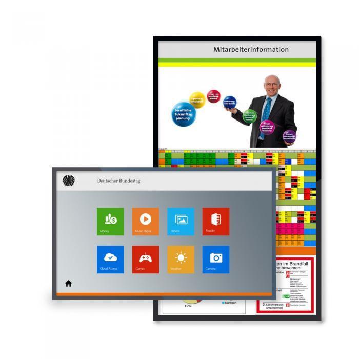 Mitarbeiterinformationssystem Display pro